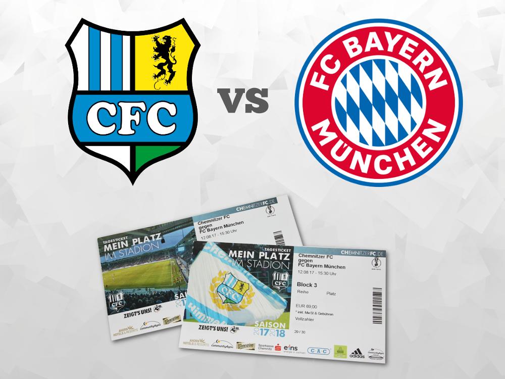 Chemnitzer FC gegen FC Bayern Gewinnspiel